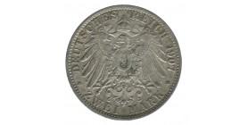 2 Marks Guillaume II - Allemagne Prusse Argent