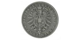 2 Marks Albert - Allemagne Saxe Argent