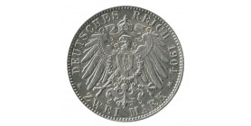 2 Marks Frederic Auguste III - Allemagne Saxe Argent