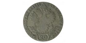 20 Kreuzer François II - Autriche Argent