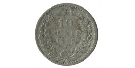 10 Cents Guillaume III - Pays-Bas Argent