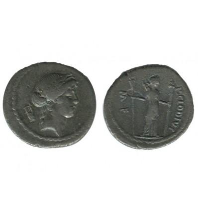 Denier P.clodius Turrinus République Romaine