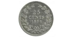 25 Cents Wilhelmine - Pays-Bas Argent