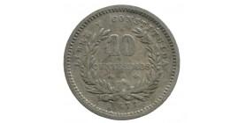 10 Centimes - Uruguay Argent