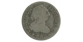 1/2 Real Charles III espagne argent
