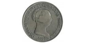 20 Reales Isabelle II Espagne Argent