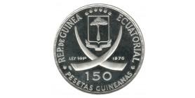 150 Pesetas Guinée Equatoriale Argent
