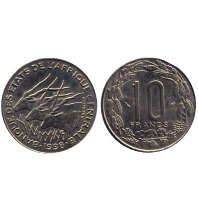 10 Francs Afrique Centrale