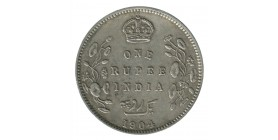 1 Roupie Edouard VII - Indes Anglaises Argent