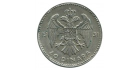 20 Dinars Alexandre Ier - Yougoslavie Argent