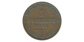 5 Pfennig - Allemagne Saxe