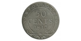 50 Cents Georges V - Canada Terre Neuve Argent