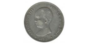 5 Pesetas Alphonse XIII - Espagne Argent
