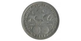 1/2 Dollar Exposition de Chicago Colombus - Etats-Unis Argent
