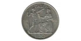20 Lires Victor Emmanuel III - Italie Argent