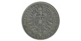 2 Marks Charles Ier - Allemagne Wurtenberg Argent
