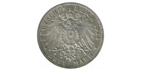 3 Marks Guillaume II - Allemagne Wurtenberg Argent