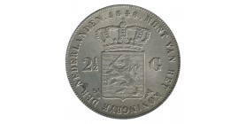 2 1/2 Florins Guillaume II - Pays-Bas Argent
