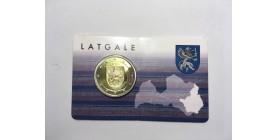 2 Euros Lettonie 2017 - Latgale B.U.