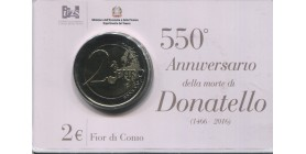 2 Euros Commémorative Italie 2016 B.U. - Donatello