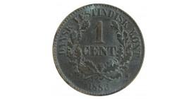 1 Cent Christian IX - Indes Ouest Danoises