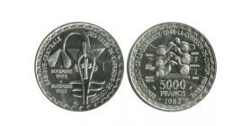 500 Francs Afrique de l'Ouest (Etats) Argent