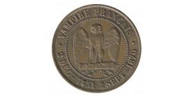"""Module de 5 Centimes Napoléon III """"Vampire Français"""" - Médaille Satirique"""