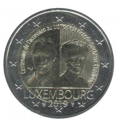 2 Euros Commémorative Luxembourg 2019