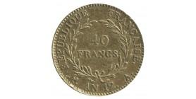 40 Francs Bonaparte Premier Consul