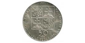 50 Couronnes Tchécoslovaquie Argent