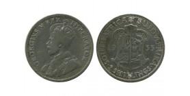 2 Shillings Georges V Afrique du Sud Argent
