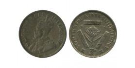 3 Pence Georges V Afrique du Sud Argent
