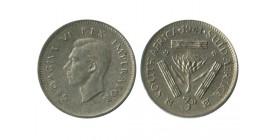 3 Pence Georges VI Afrique du Sud Argent