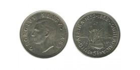 5 Shillings Georges VI Afrique du Sud Argent