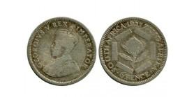 6 Pence Georges V Afrique du Sud Argent