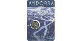 2 Euros Commémoratives Andorre 2019 - Ski Alpin