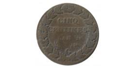 5 Centimes Dupré Directoire et Consulat