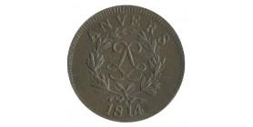 10 Centimes Louis XVIII - Siège d'Anvers sans Point