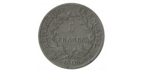 5 Francs Napoléon Ier Tête Laurée Revers République