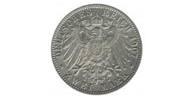 2 Marks Frederick Ier - Allemagne Bade Argent