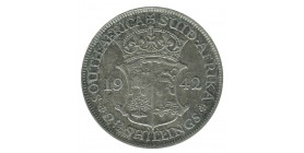 2 1/2 Shillings Georges VI - Afrique du Sud Argent