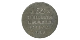 32 Schilling - Allemagne Hambourg Argent