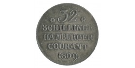 32 Schilling - Allemagne Hambourg Argent