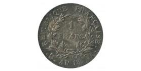 1 Franc Napoléon Empereur Calendrier Révolutionnaire