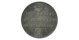 Module de 1 Franc - Essai IVème Année du Consulat de Bonaparte