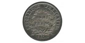 1/2 Franc Napoléon Ier Tête Laurée Revers République