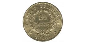 20 Francs Napoléon Ier Tête Laurée - Revers Empire