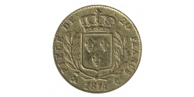 20 Francs Louis XVIII Buste Habillé