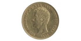 50 Lires Charles Albert - Italie Sardaigne