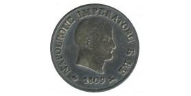 10 Soldi Napoléon Imperator - Italie Occupation Française Argent